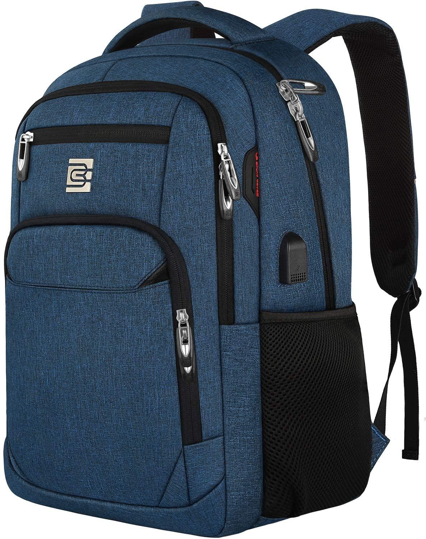 Blue digital nomad backpack