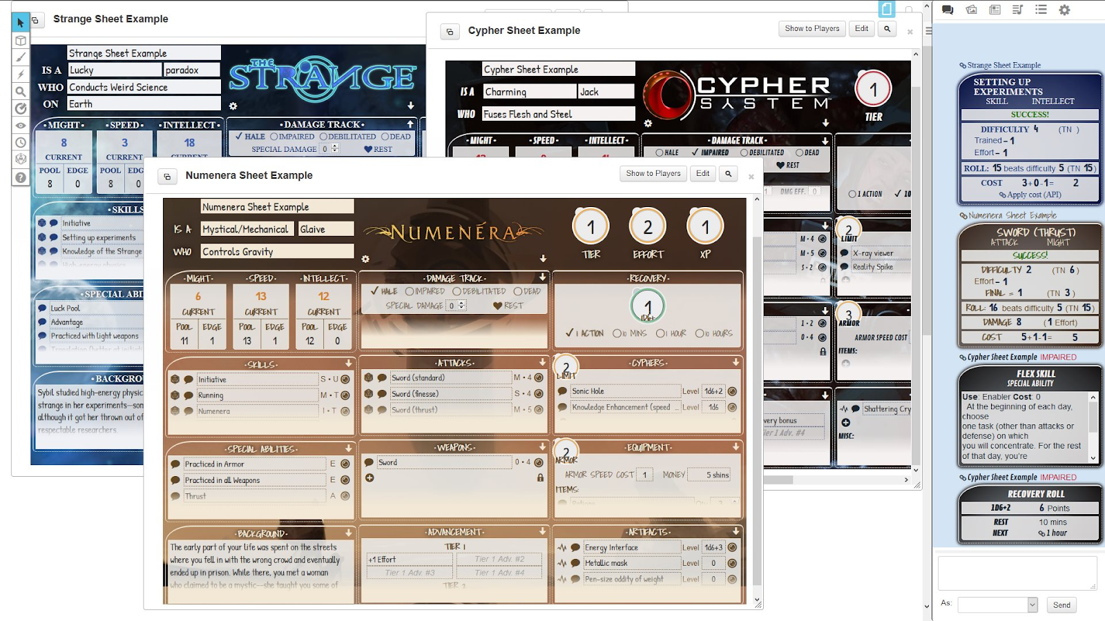 Community Forums: Cypher Systems by Roll20 | Roll20: Online
