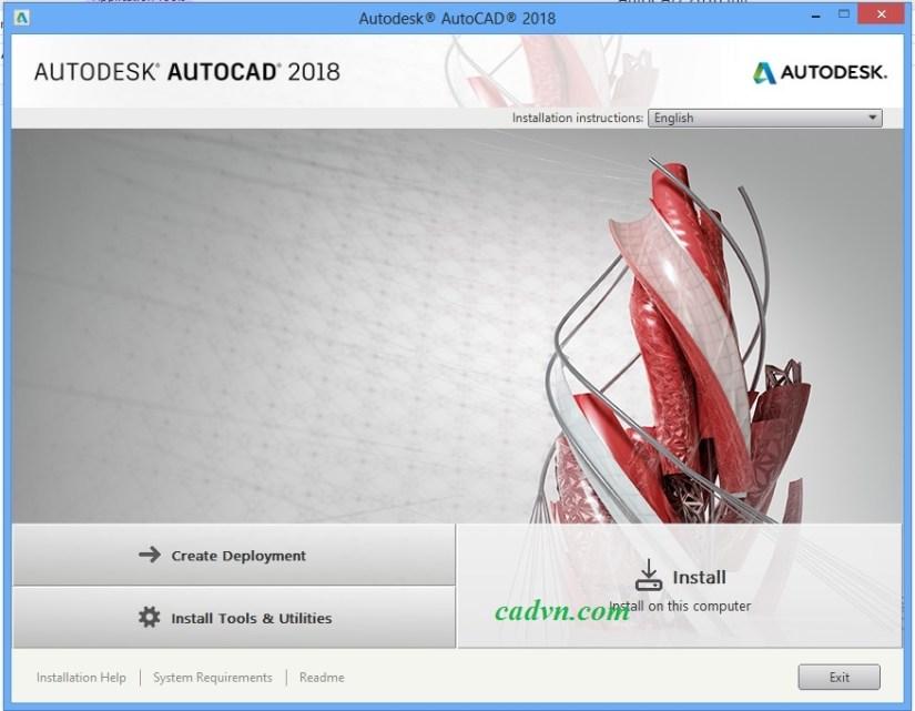 Hướng dẫn cài đặt autocad 2018 -1