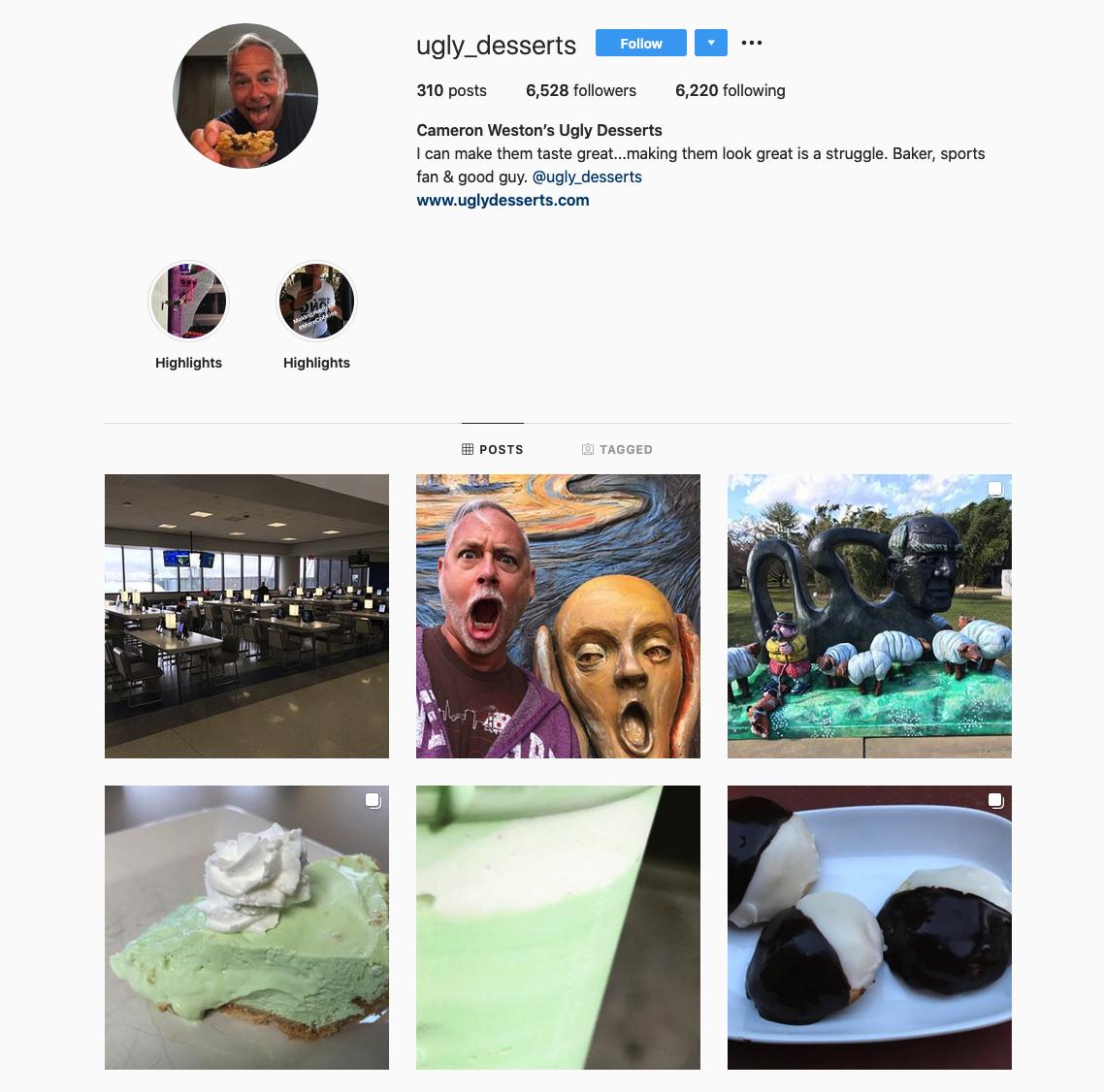 Cameron Weston   Ugly Desserts