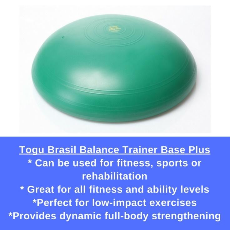 Togu Brasil features a hemispherical, air-filled ball cushion on the upper side with a durable, stability base plate on the bottom.