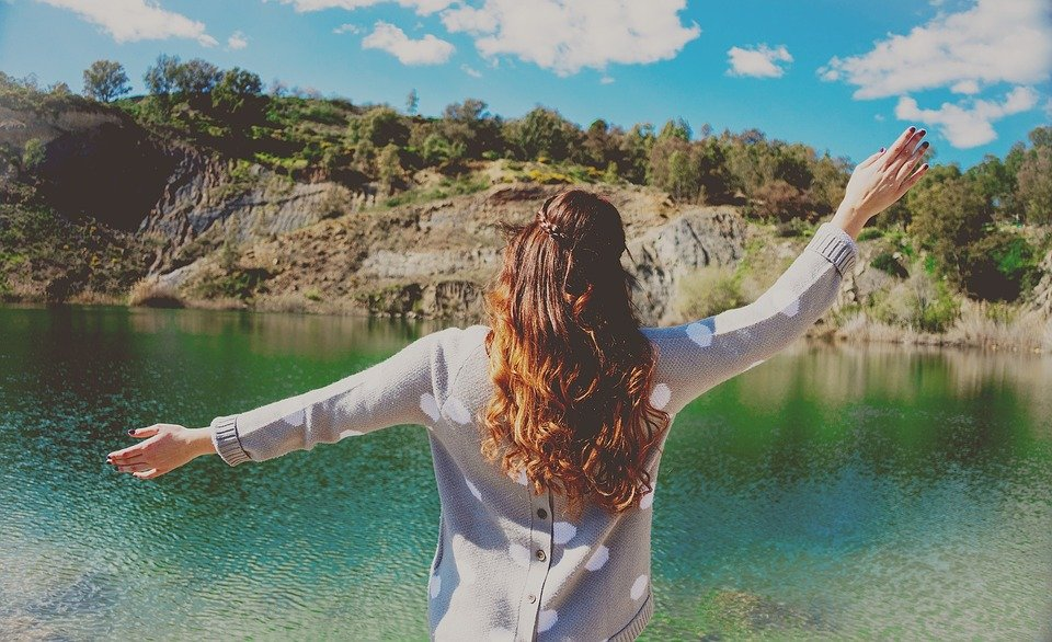 Water, Woman, Nature, Scenery, Outdoors, Happiness