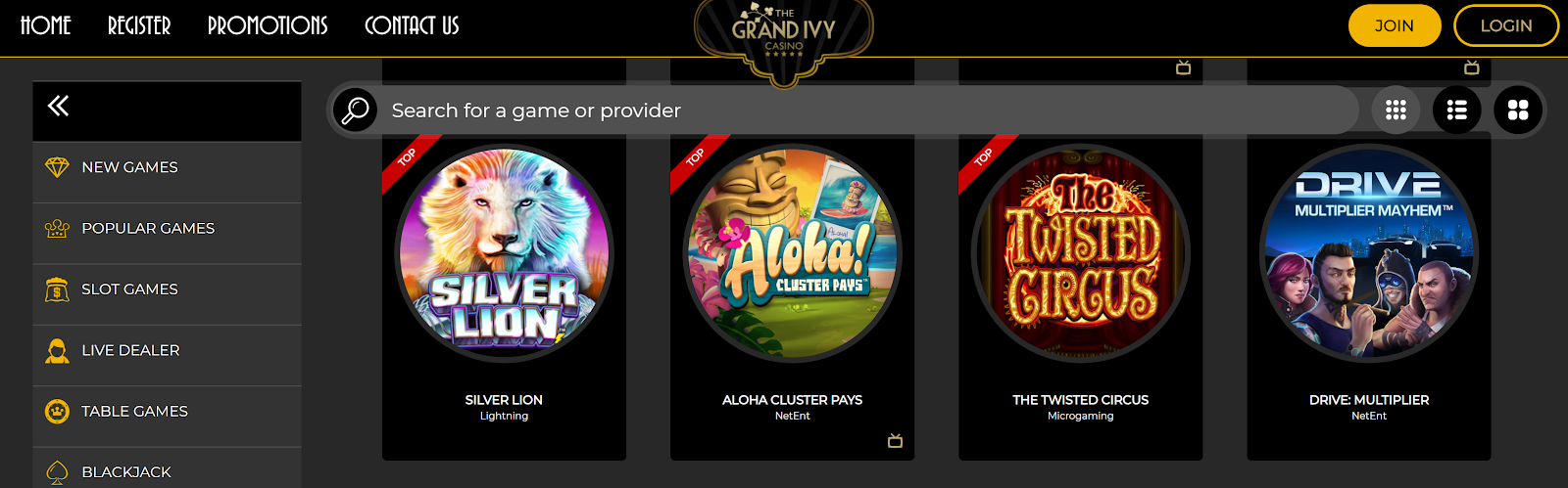 The Grand Ivy Casino is a top-rated slot bonus site