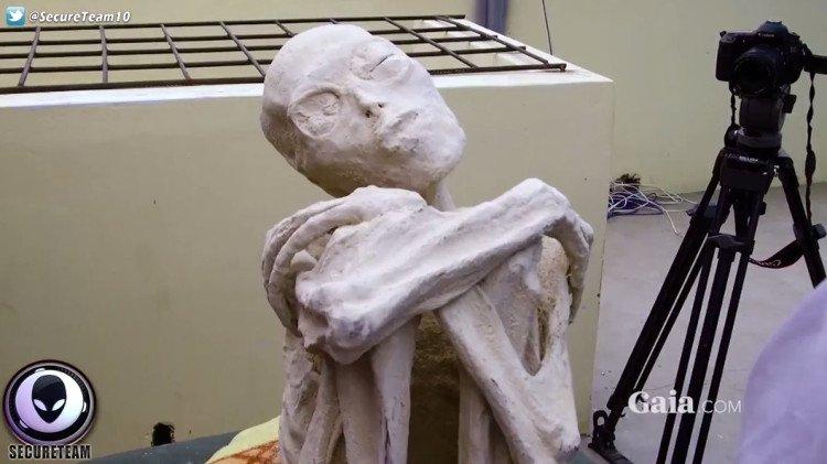 """Mặc dù nhiều người dùng mạng cho rằng """"xác ướp"""" chỉ là một tác phẩm điêu khắc, video vẫn lan truyền chóng mặt."""
