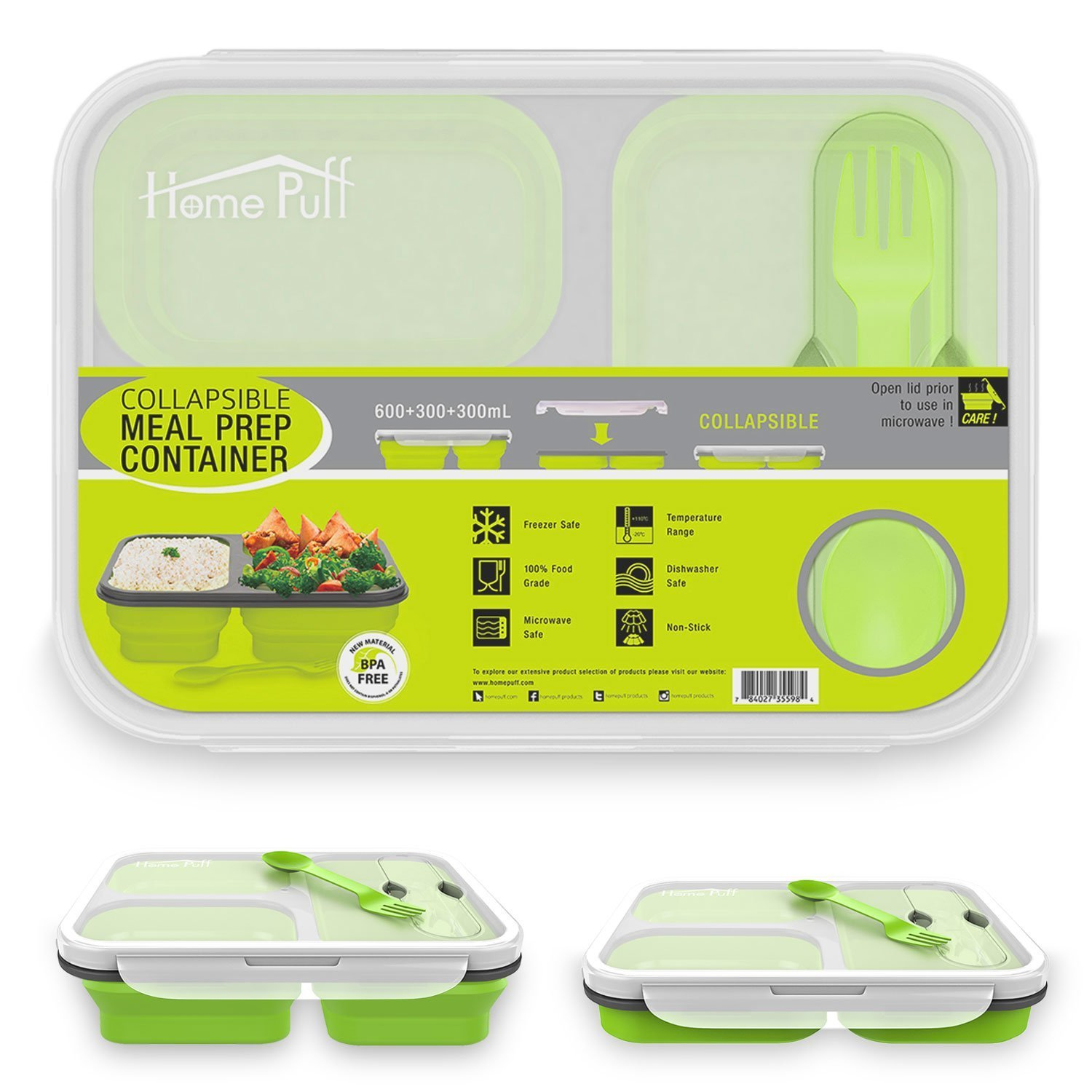 Home Puff Collapsible Best Lunch Box In India For Student