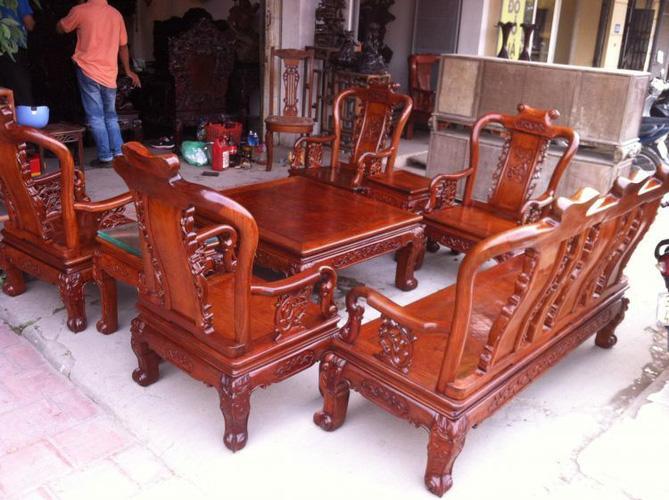 Bán thanh lý bộ bàn ghế gỗ hương ta đóng tại làng nghề đồng kị