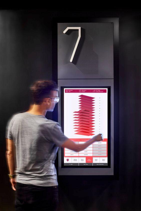 Digital signage wayfinding design. Source: Therestudio - Retail Digital Signage - Rev Interactive