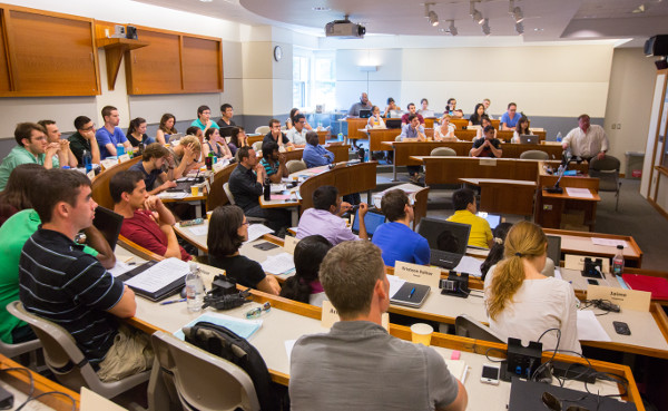 Picture of students in large classroom