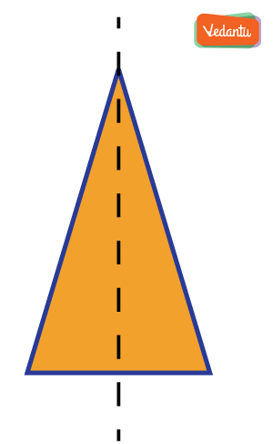 triangle having only one line of symmetry