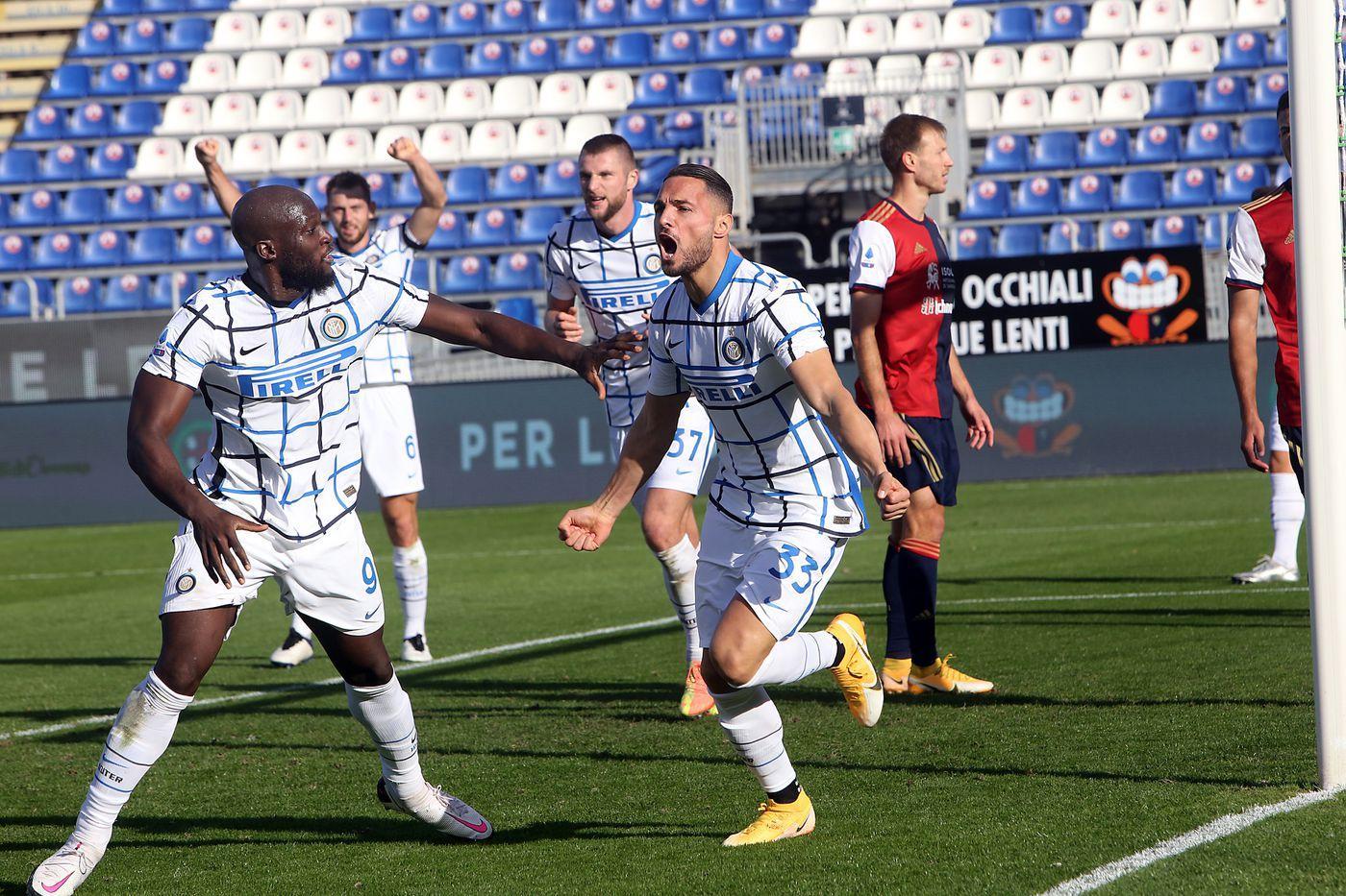 Inter đã đánh bại Cagliari 3-1 ở trận lượt đi mùa giải năm nay