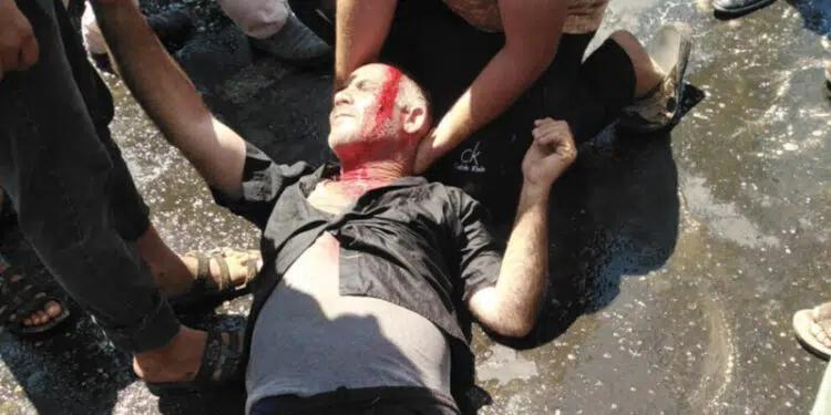 Skadd under protester mot strømbrudd Urfa 2021