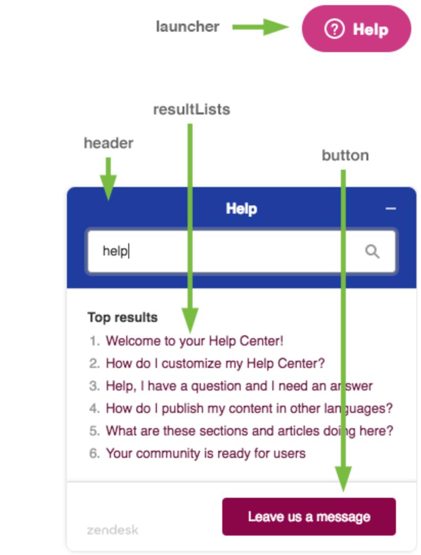 Advanced customization of Web Widget (Classic) – Zendesk help - SaaS customer success example