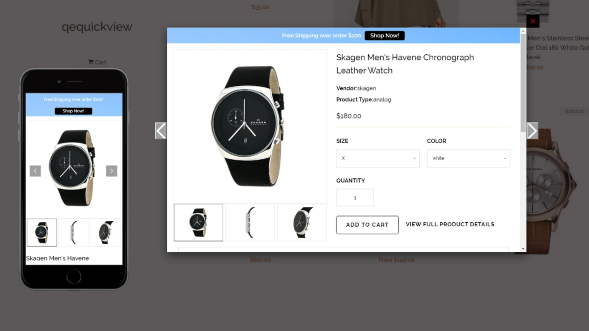 perfect Shopify quick view app
