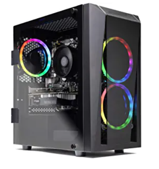 1.SkyTech Blaze Gaming Desktop Computer – Ryzen 5 2600 6-Core 3.4, Windows 10       Home 64-bit