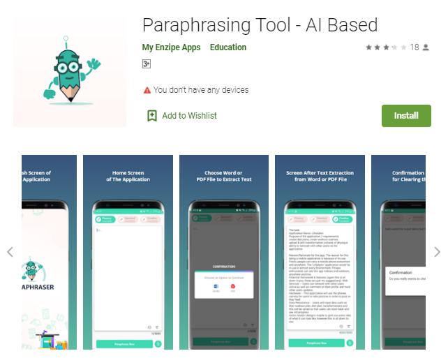 paraphrasing tool app