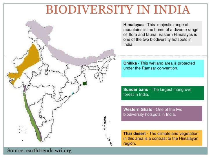 Image result for biodiversity hotspots india map