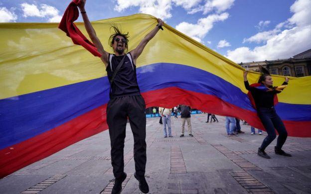 10 eventos que marcaron la historia de América Latina. Manifestación en Colombia.
