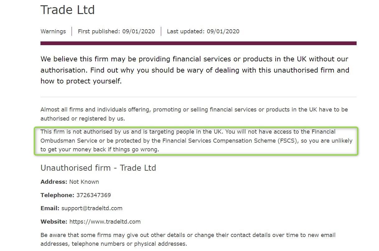 TradeLTD: отзывы клиентов и обзор деятельности брокера
