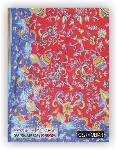 Baju Batik Murah, Model Baju batik Pekalongan, Contoh Batik Modern, CB274 MERAH