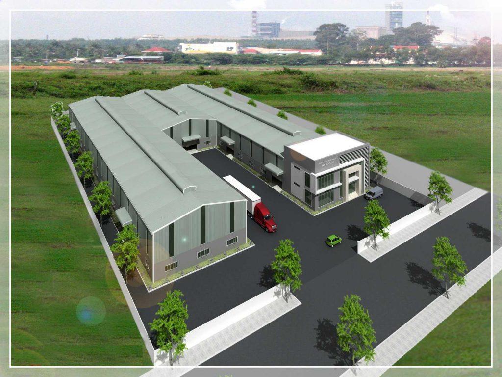 Nhà xưởng sử dụng tôn lợp mái màu xanh lá cây