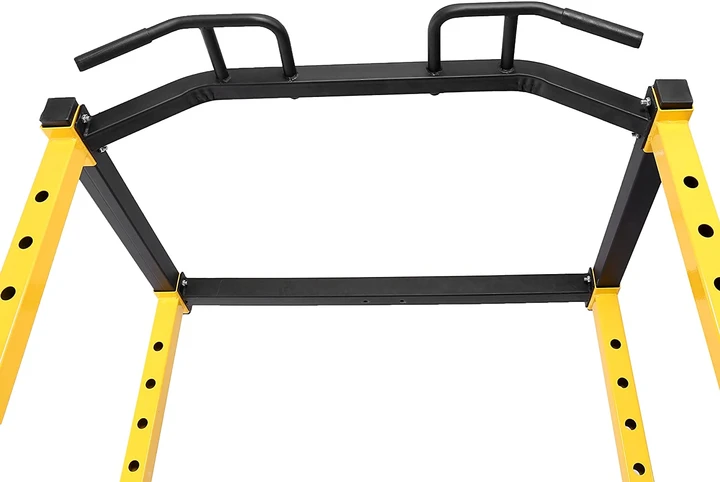Hulkfit/Balance Form Power Cage is  inexpensive but suitable for almost everyone, even athletes and bodybuilders provided they are not looking for gym-grade quality