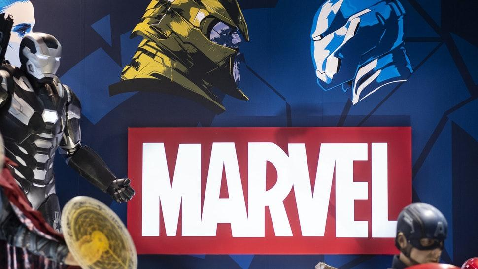HONG KONG, CHINA - 2019/07/28: American film production label owned by Disney, Marvel Studios, booth at Ani-Com & Games event in Hong Kong. (Photo by Budrul Chukrut/SOPA Images/LightRocket via Getty Images)