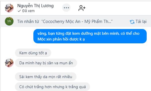 Feedback của chị Lương
