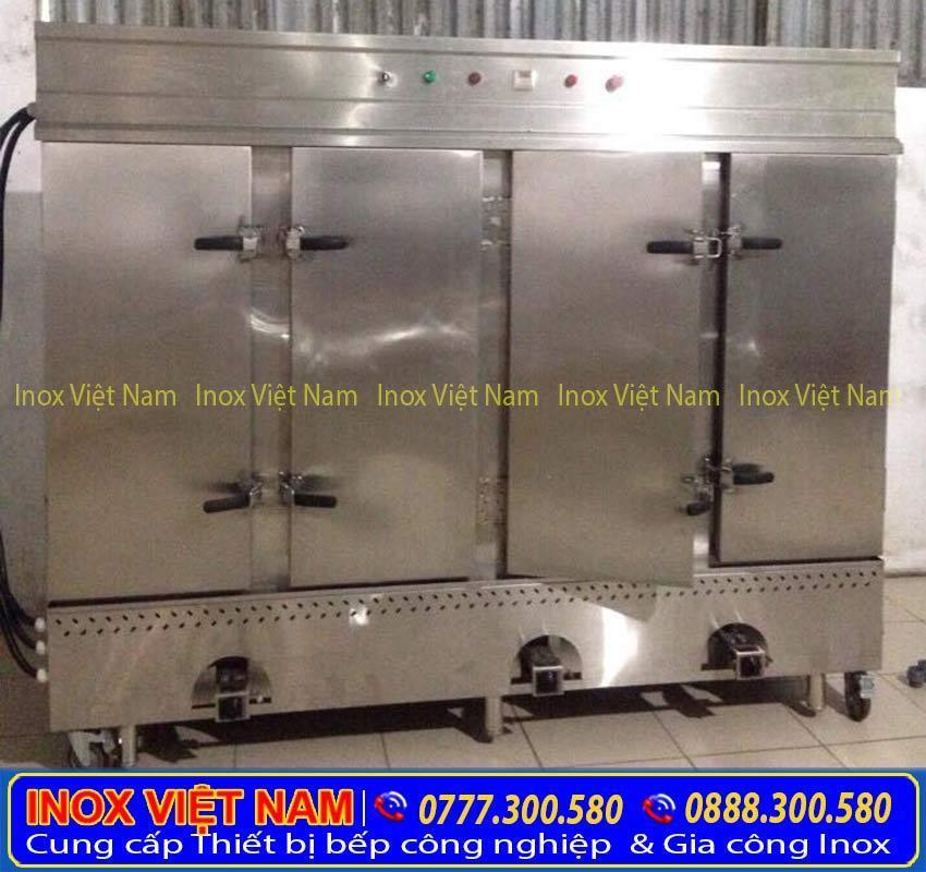 tủ nấu cơm công nghiệp bằng điện và gas 16kg tại inox việt nam
