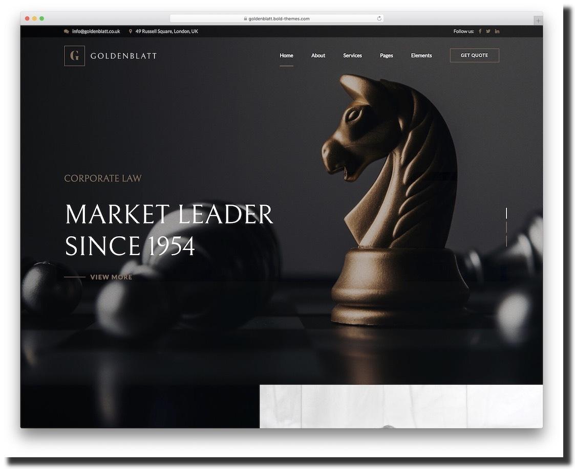 Goldenblatt business and law firm website design template