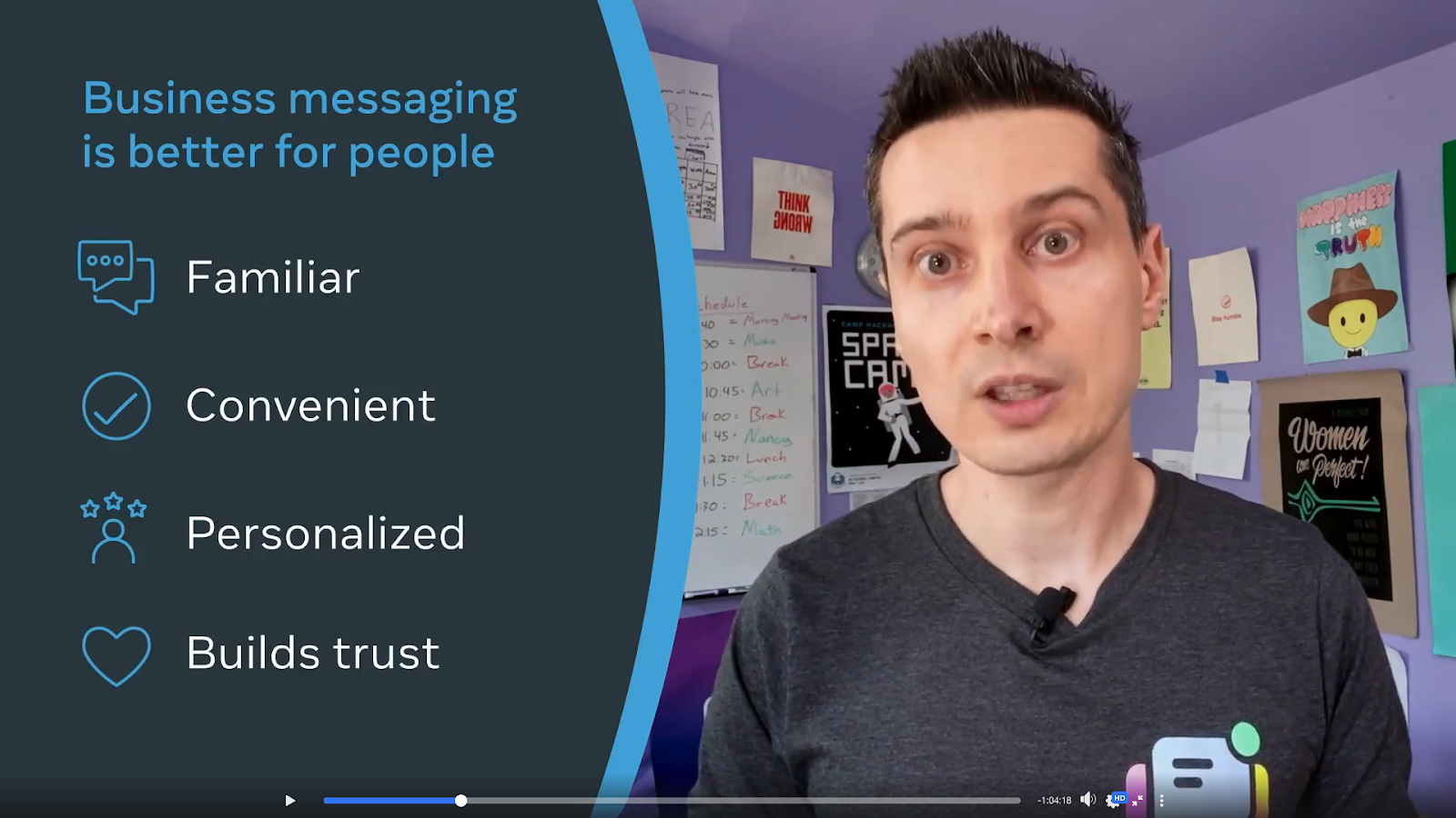 Messaging is familiar, convenient, and personalized