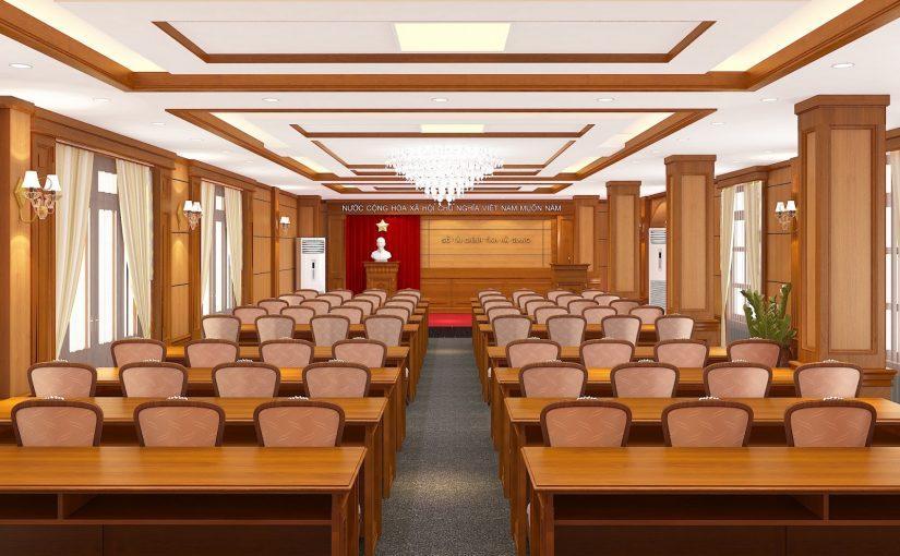 Kích thước bàn ghế hội trường theo tiêu chuẩn thị trường