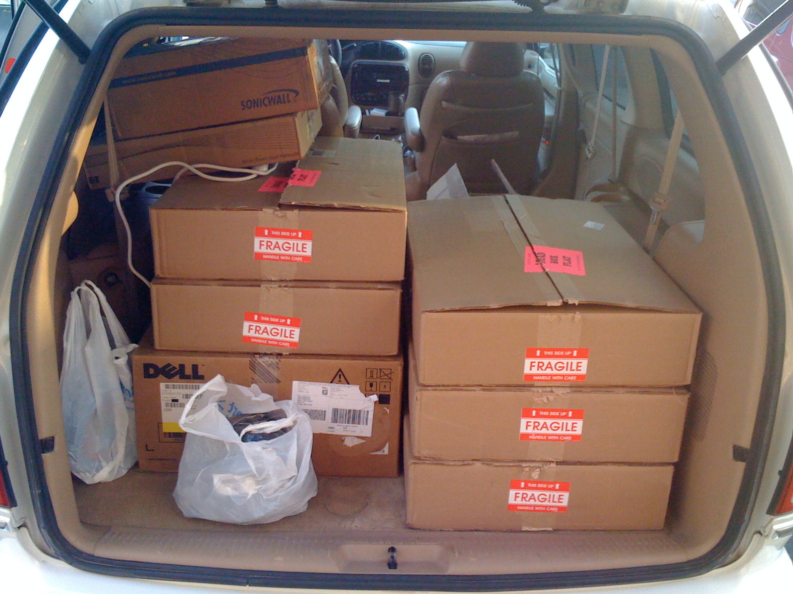 Here's a photo of Twitpic servers in back of his parent's van