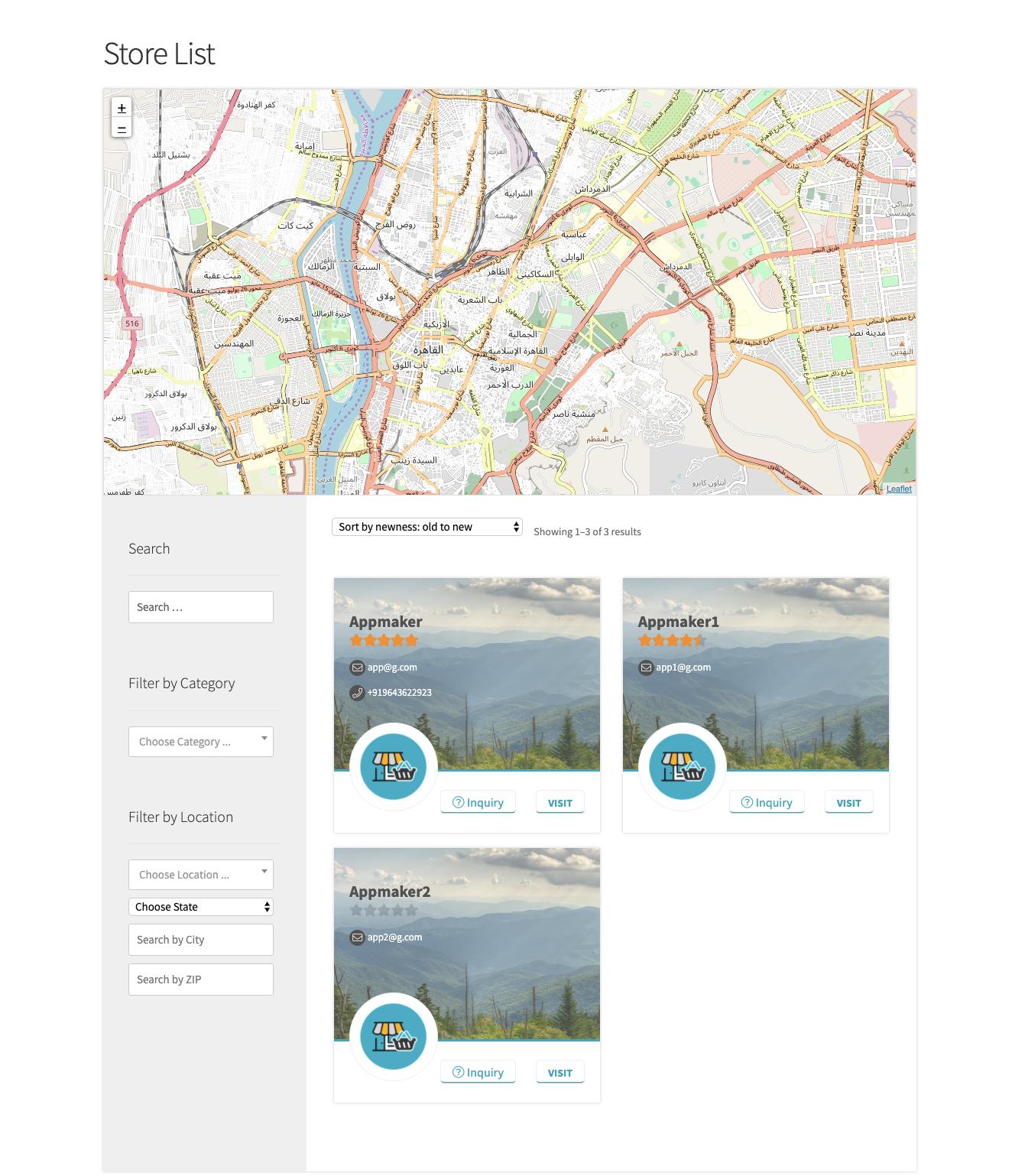 WCFM multivendor plugin - One of the Best Multi-Vendor Marketplace Plugins -  Store list on the website after enabling WCFM multivendor plugin