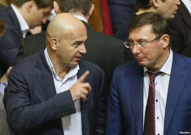 Народний депутат Ігор Кононенко та генеральний прокурор Юрій Луценко