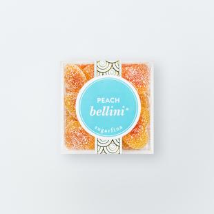 Image of Peach Bellini gummies.