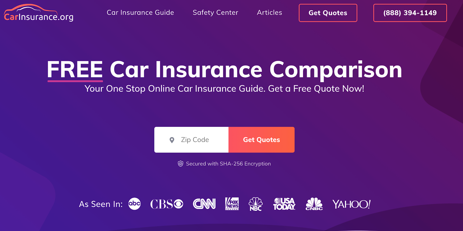 CarInsurance.org service page example