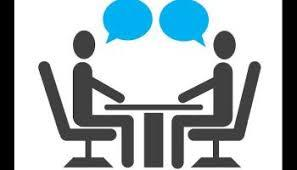 logo of two people conversating