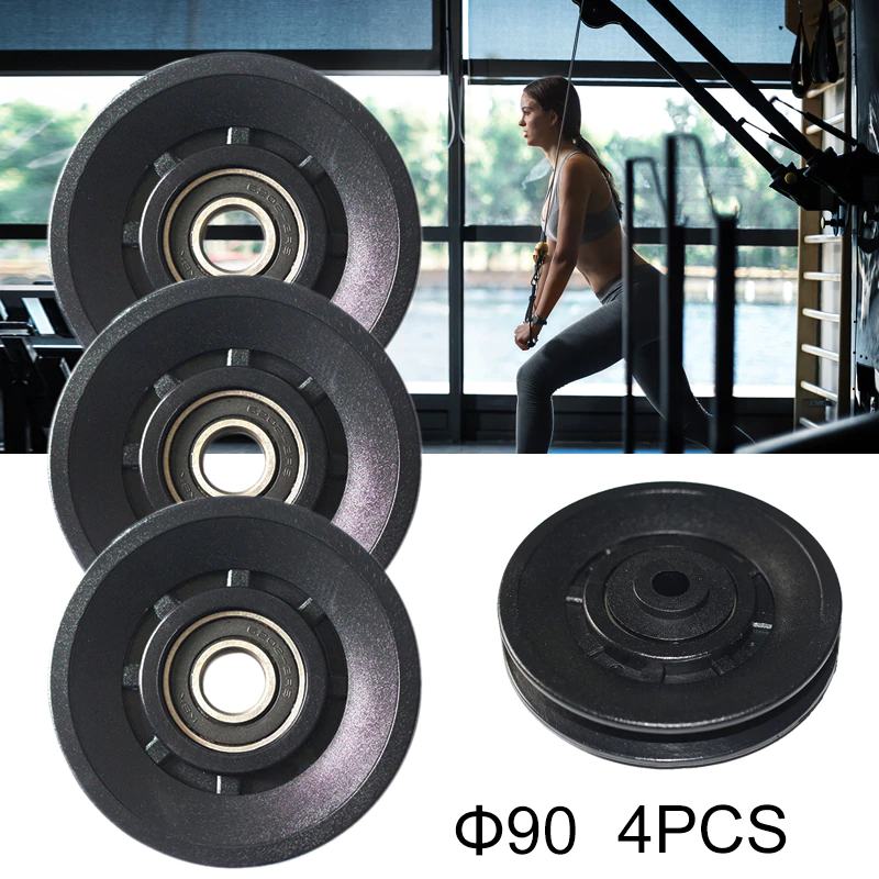 4PCS/Lot Pulley Wheel Cable Gym Equipment