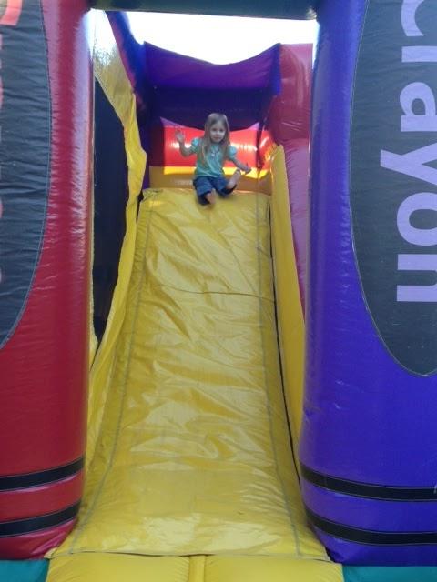 Bella on the slide