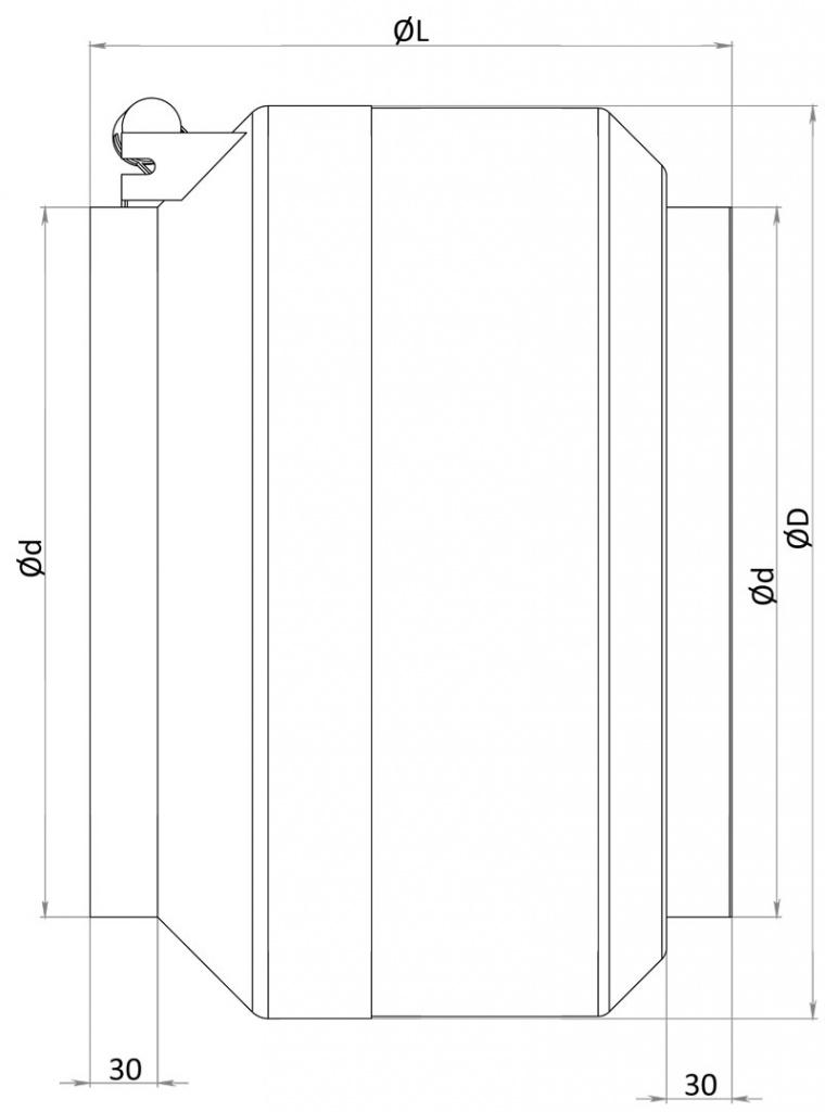Чертеж канального вентилятора серии ACF