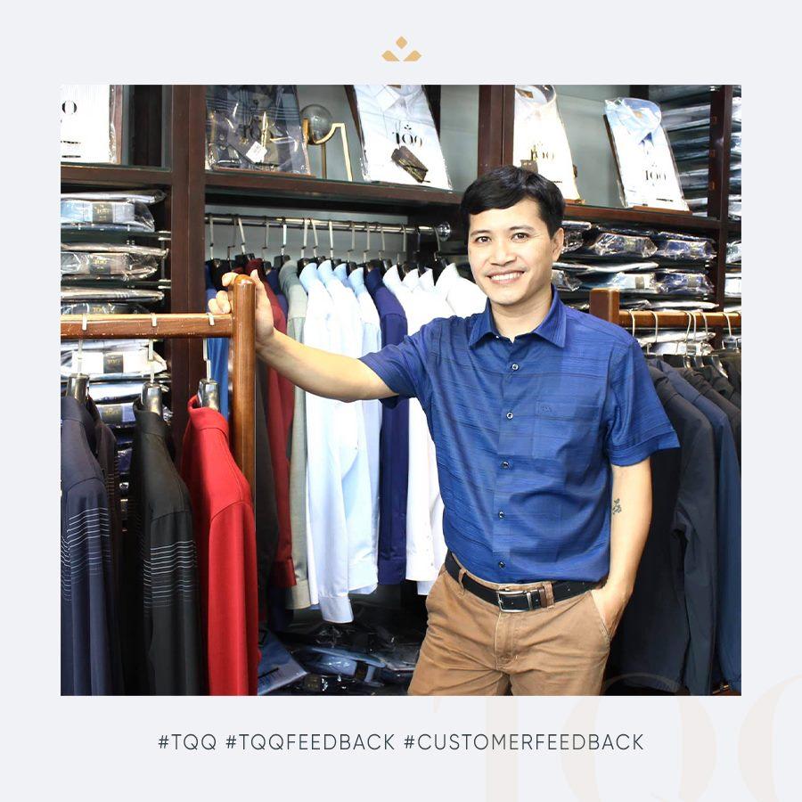 Áo sơ mi TQQ được thiết kế form vô cùng phù hợp với vóc dáng đàn ông Việt