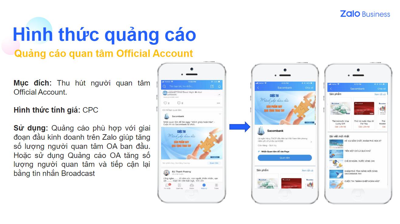 Những hình thức chạy quảng cáo Zalo bạn nên biết. - NAD Digital