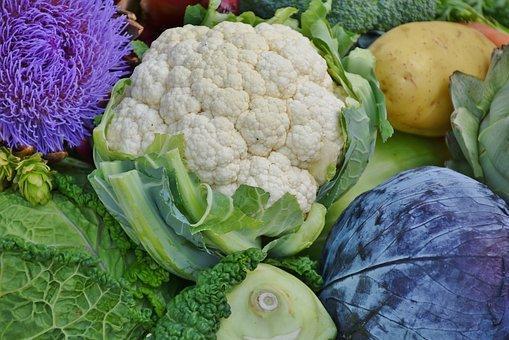 Cauliflower, Red Cabbage, Savoy