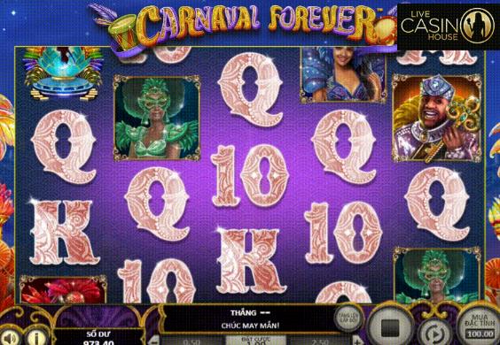 Game quay hũ đổi thưởng hot nhất tại Live Casino House là Carnaval Forever.