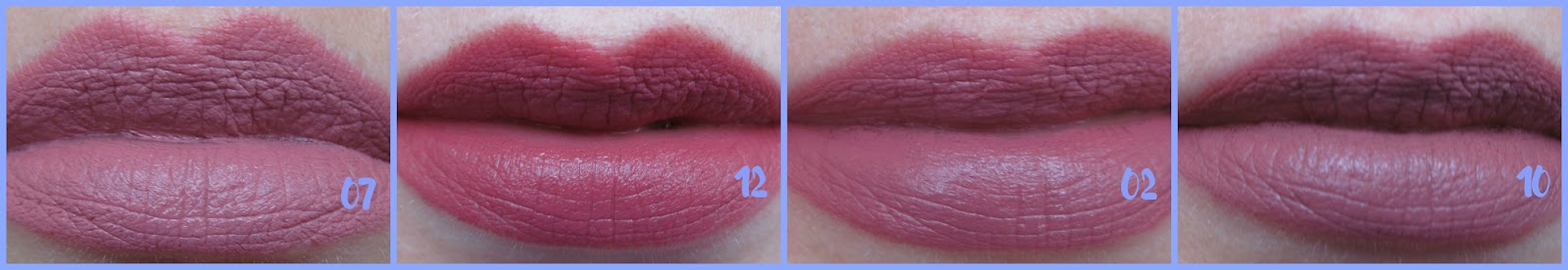 Як матові помади Velvet Matte та Matte Lipstick Crayon виглядають на губах