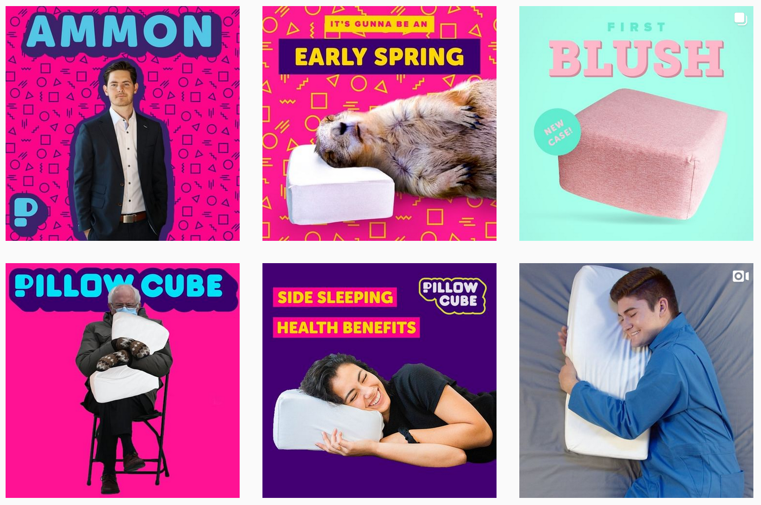 Pillow Cube | Instagram Image Gallery | Wellness Brands Featured on Afluencer