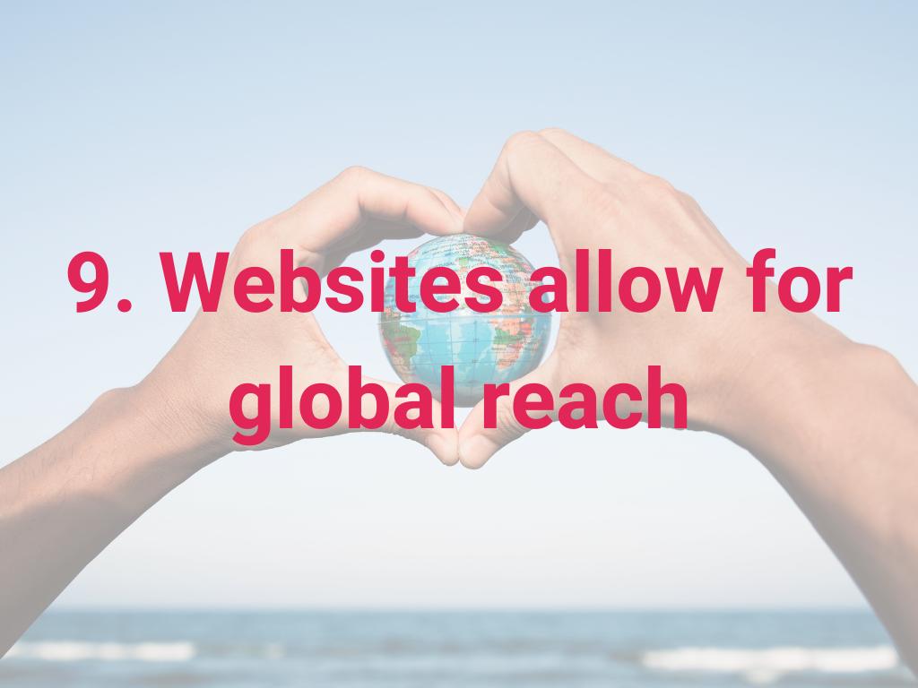 Websites zorgen voor wereldwijd bereik