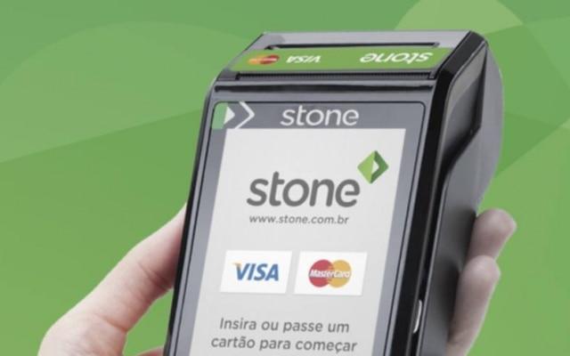 A máquina da Stone: parcerias com Visa e Mastercard