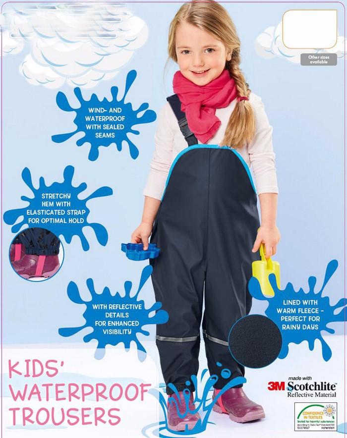 Spodnie przeciwdeszczowe dla dziewczynki