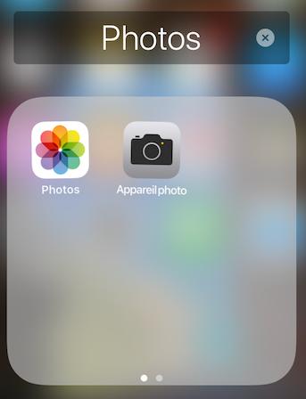 Image de regroupement d'applications photos dans ipad